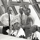 NASA OFFICIALS IN LAUNCH CONTROL CENTER FOR APOLLO 10 - 8X10 NASA PHOTO (EP-018)