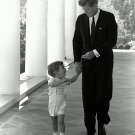 PRESIDENT JOHN F. KENNEDY WITH JOHN, JR. AT THE WHITE HOUSE 8X10 PHOTO (AA-220)