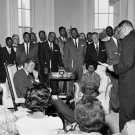 PRESIDENT JOHN F. KENNEDY MEETS WITH NAACP IN 1961 - 8X10 PHOTO (AA-304)
