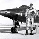 TEST PILOT CAPT JOE ENGLE NEXT TO THE X-15-2 AIRCRAFT - 8X10 NASA PHOTO (AA-308)