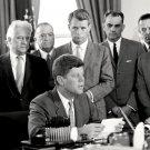 PRESIDENT JOHN F. KENNEDY WITH BOBBY & J. EDGAR HOOVER FBI - 8X10 PHOTO (BB-251)