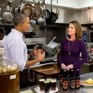 PRESIDENT BARACK OBAMA WITH NBC's SAVANNAH GUTHRIE - 8X10 PHOTO (CC-079)