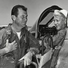PILOT JACKIE COCHRANE IN HER CANADAIR F-86 WITH CHUCK YEAGER 8X10 PHOTO (BB-096)