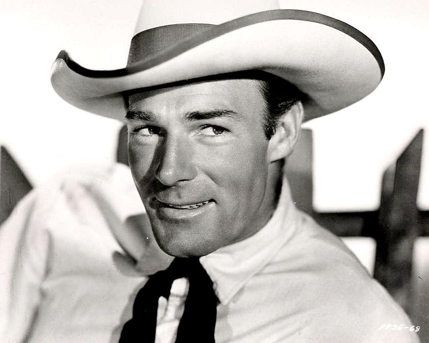 "RANDOLPH SCOTT IN THE 1938 FILM ""THE TEXANS"" - 8X10 PUBLICITY PHOTO (OP-066)"