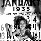 ACTRESS SHIRLEY TEMPLE WELCOMES THE NEW YEAR 1935 8X10 PUBLICITY PHOTO (DA-047)