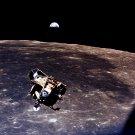 EARTH VIEW AS LUNAR MODULE 'EAGLE' LEAVES MOON ON APOLLO 11 8X10 PHOTO (EP-048)