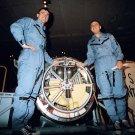 GEMINI 3 ASTRONAUTS GRISSOM & YOUNG AFTER FLIGHT - 8X10 NASA PHOTO (AA-322)