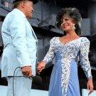 BOB HOPE & ELIZABETH TAYLOR ON USS LEXINGTON FOR USO SHOW - 8X10 PHOTO (BB-514)