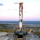 HIGH-ANGLE VIEW APOLLO 8 SATURN V LAUNCH COMPLEX 39 - 8X10 NASA PHOTO (BB-216)