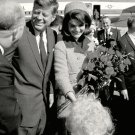 PRESIDENT JOHN F. KENNEDY AND JACKIE ARRIVE AT LOVE FIELD - 8X10 PHOTO (BB-863)