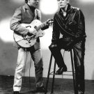 EDDIE COCHRAN AND GENE VINCENT ROCKABILLY LEGENDS 8X10 PUBLICITY PHOTO (AZ058)