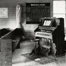 1936 IMAGE OF ALABAMA CHURCH ORGAN AND PEWS - 8X10 PHOTO (AZ169)