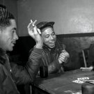 TUSKEGEE AIRMEN PLAY CARDS @ AIR BASE RAMITELLI, ITALY 1945 - 8X10 PHOTO (AZ182)