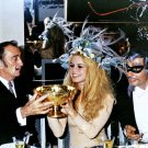 SALVADOR DALI, BRIGITTE BARDOT AND GUNTHER SACHS IN 1968 - 8X10 PHOTO (CC-164)