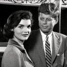 SENATOR JOHN F. KENNEDY AND WIFE JACQUELINE IN 1955 - 8X10 PHOTO (ZY-333)