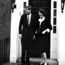 SENATOR JOHN F. KENNEDY & WIFE JACQUELINE @ GEORGETOWN HOME 8X10 PHOTO (ZY-337)