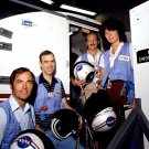 SALLY RIDE AND STS-7 CREW TAKE A BREAK FROM TRAINING - 8X10 NASA PHOTO (AA-286)