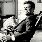 PRESIDENT JOHN F. KENNEDY RELAXING IN ROCKING CHAIR - 8X10 PHOTO (AA-784)
