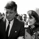 PRESIDENT JOHN F. KENNEDY AND JACKIE ARRIVE AT LOVE FIELD - 8X10 PHOTO (ZZ-119)