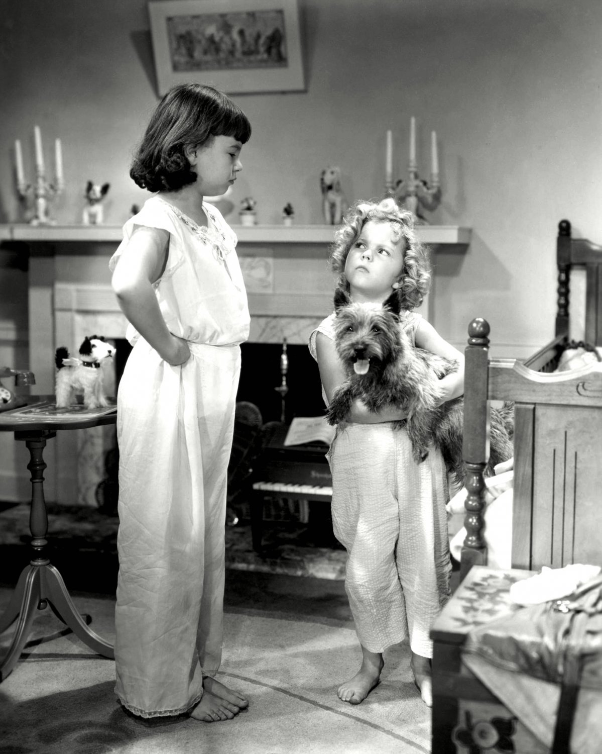 """SHIRLEY TEMPLE AND JANE WITHERS IN """"BRIGHT EYES"""" - 8X10 PUBLICITY PHOTO (DA-003)"""