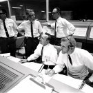 GENE KRANZ, CHRIS KRAFT IN MISSION CONTROL FOR GEMINI 7 8X10 NASA PHOTO (AA-340)