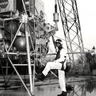 ALAN SHEPARD AT LUNAR LANDING RESEARCH FACILITY - 8X10 NASA PHOTO (AA-331)