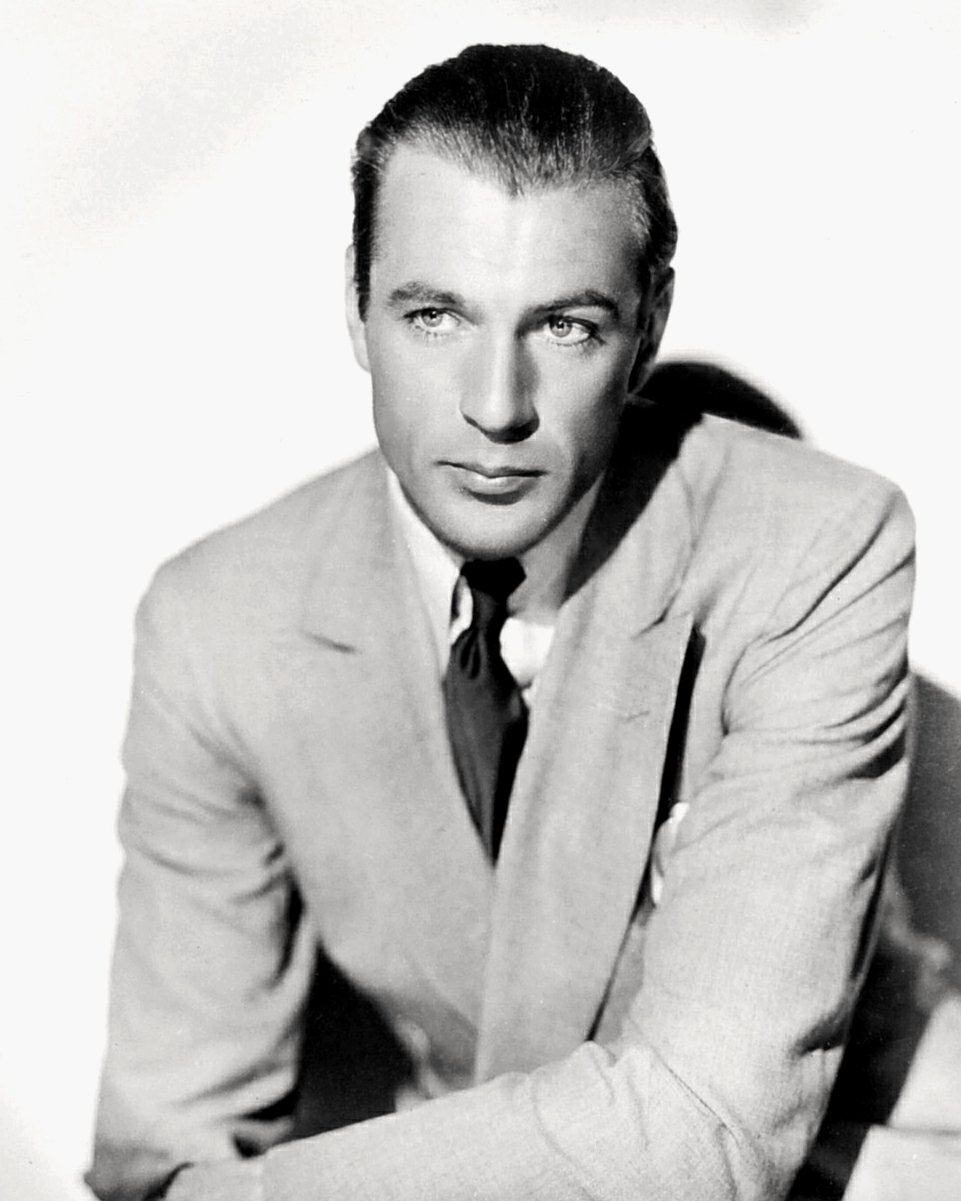 GARY COOPER LEGENDARY ACTOR - 8X10 PUBLICITY PHOTO (DA-772)