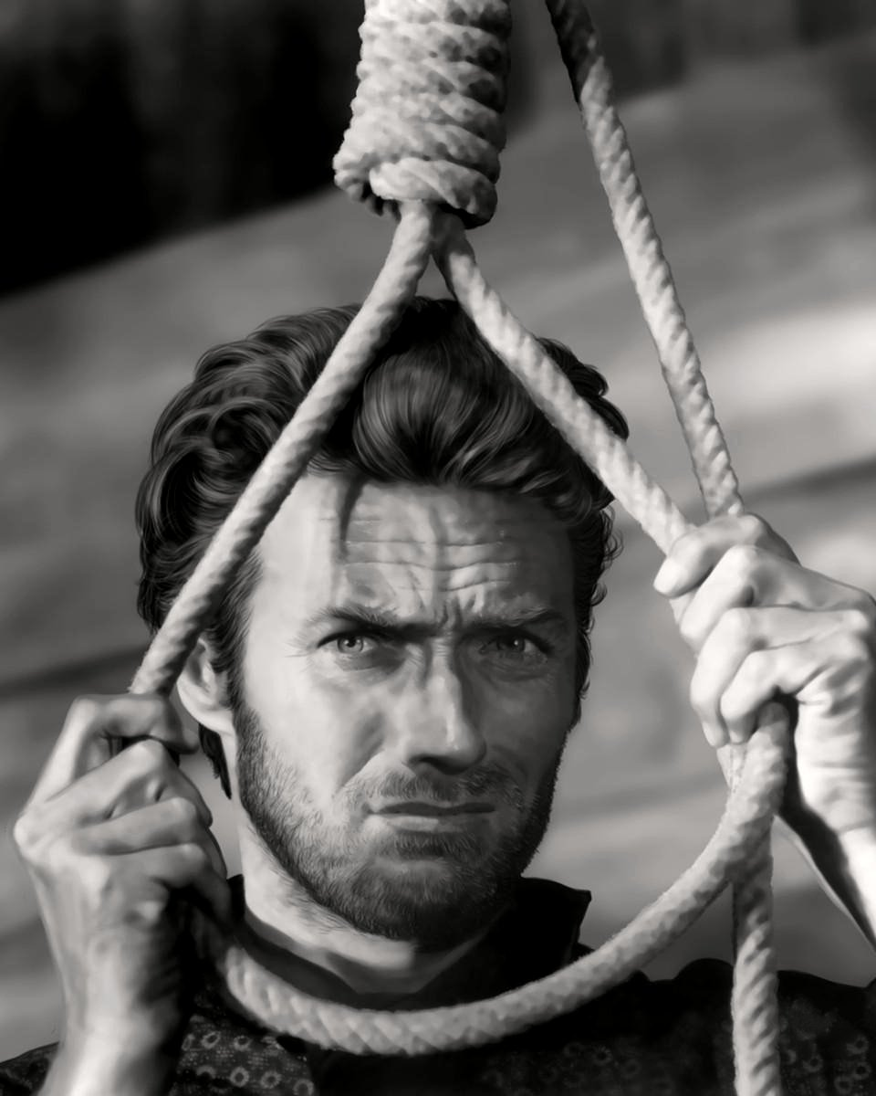 """CLINT EASTWOOD IN """"THE GOOD, THE BAD AND THE UGLY"""" 8X10 PUBLICITY PHOTO (AZ207)"""