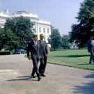PRESIDENT JOHN F KENNEDY & VP LYNDON B. JOHNSON SOUTH LAWN - 8X10 PHOTO (BB-229)