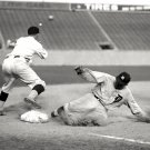 TY COBB SLIDES SAFELY IN THIRD BASE WITH TRIPLE HOF - 8X10 SPORTS PHOTO (ZZ-061)