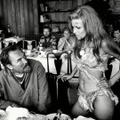 "RAQUEL WELCH AND DIRECTOR DON CHAFFEY DURING FILMING OF ""ONE MILLION YEARS B.C."""
