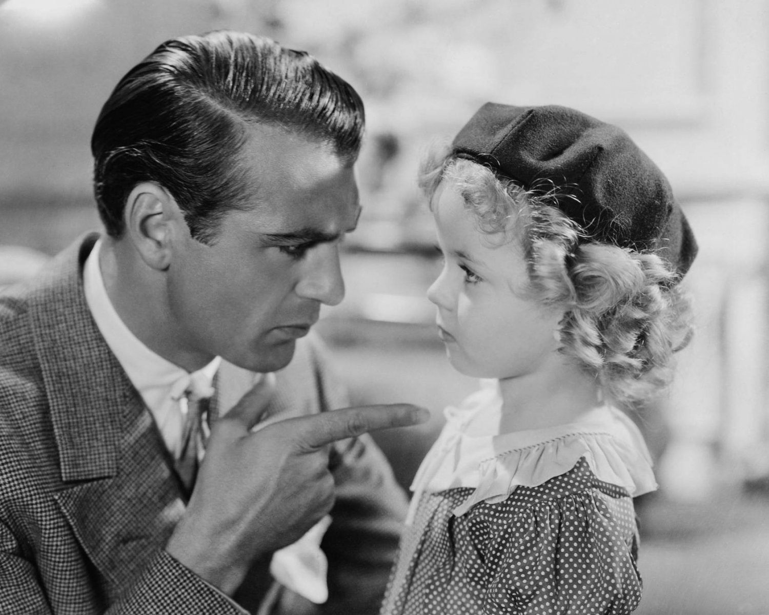 "GARY COOPER & SHIRLEY TEMPLE IN ""NOW AND FOREVER"" 8X10 PUBLICITY PHOTO (DA-028)"