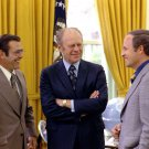 PRESIDENT GERALD FORD WITH DONALD RUMSFELD AND DICK CHENEY - 8X10 PHOTO (EP-620)