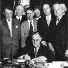 FRANKLIN D ROOSEVELT SIGNS TENNESSEE VALLEY AUTHORITY ACT TVA 8X10 PHOTO (EP742)