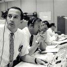 CHARLIE DUKE JIM LOVELL & FRED HAISE DURING APOLLO 11 - 8X10 NASA PHOTO (BB-757)