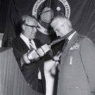 DR. WERNHER VON BRAUN WITH LT. GENERAL EDMUND O'CONNOR 8X10 NASA PHOTO (DA-265)