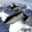 NASA SR-71B AIRCRAFT FLIES OVER THE SIERRA NEVADA MOUNTAINS 8X10 PHOTO (EP-135)