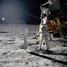 APOLLO 11 ASTRONAUT BUZZ ALDRIN ON MOON SURFACE - 8X10 NASA PHOTO (EP-234)