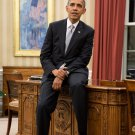 "BARACK OBAMA SITS ON EDGE OF ""RESOLUTE DESK"" IN OVAL OFFICE 8X10 PHOTO (ZY-378)"