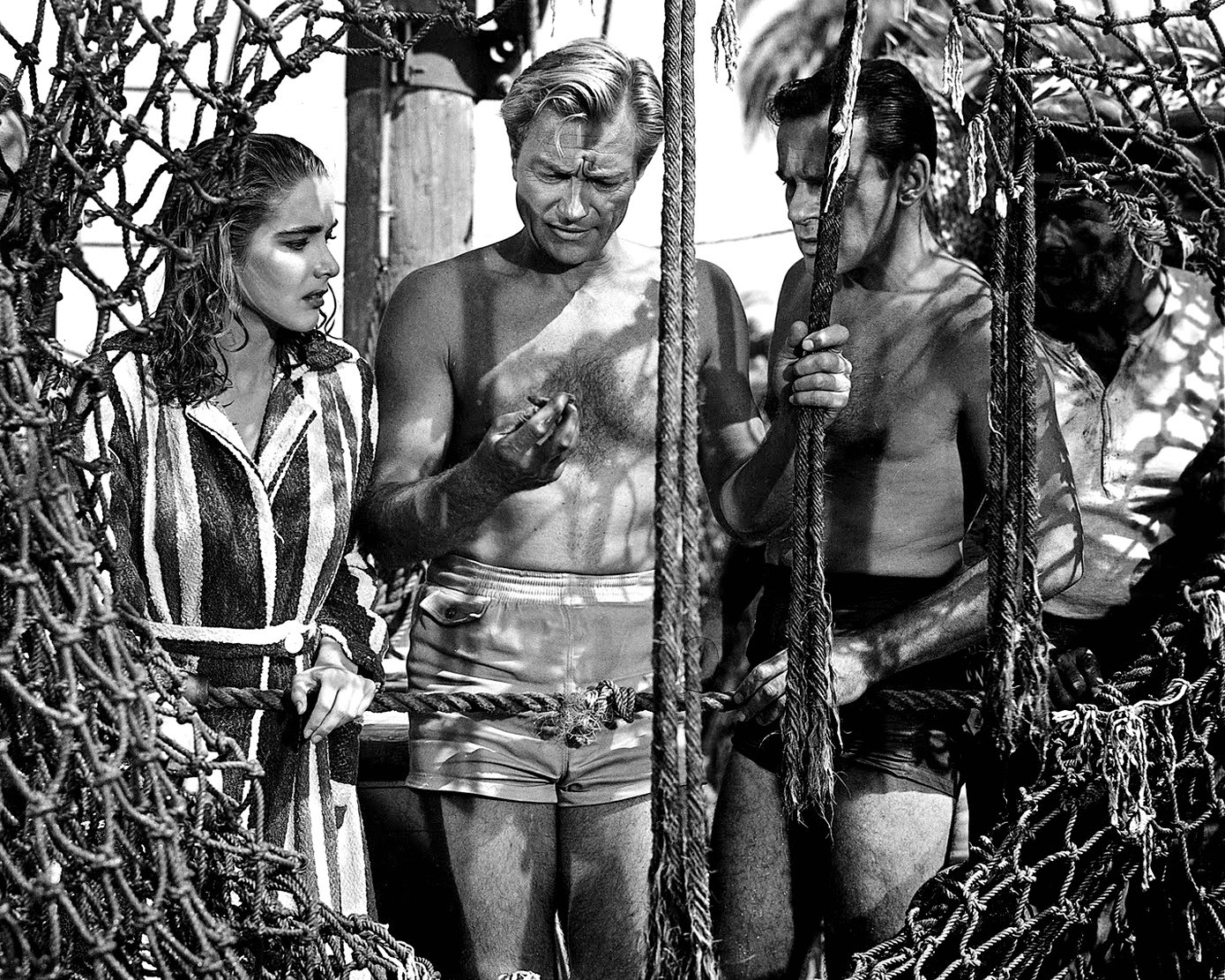 "RICHARD CARLSON, JULIE ADAMS & RICHARD DENNING ""CREATURE FROM THE BLACK LAGOON"" 8X10 PHOTO (CC-183)"