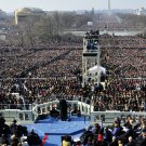 PRESIDENT BARACK OBAMA DELIVERS HIS FIRST INAUGURAL ADDRESS 8X10 PHOTO (ZY-393)