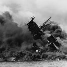 USS ARIZONA BURNS AFTER THE JAPANESE ATTACK ON PEARL HARBOR 8X10 PHOTO (EE-178)
