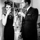 "AUDREY HEPBURN & GEORGE PEPPARD IN ""BREAKFAST AT TIFFANY'S"" 8X10 PHOTO (NN-233)"