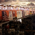 "US NAVY SAILORS RENDER HONORS @ ""GROUND ZERO"" SEPTEMBER 11 - 8X10 PHOTO (ZY-433)"