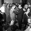 BOB HOPE & MILTON BERLE AFTER KENNEDY MEDAL PRESENTATION - 8X10 PHOTO (ZY-445)