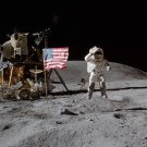 APOLLO 16 ASTRONAUT JOHN YOUNG ON THE MOON - 8X10 NASA PHOTO (BB-555)