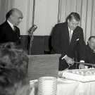 DR. WERNHER VON BRAUN AT HIS 50TH BIRTHDAY CELEBRATION 8X10 NASA PHOTO (DA-431)