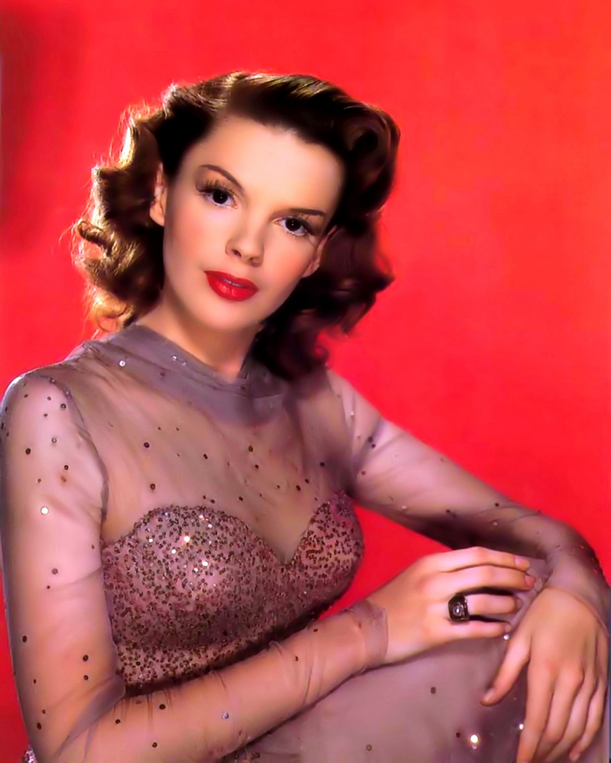 """JUDY GARLAND IN THE FILM """"PRESENTING LILY MARS"""" - 8X10 PUBLICITY PHOTO (ZY-470)"""