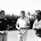 PRESIDENT JOHN F. KENNEDY w/ PETER LAWFORD & STEPHEN SMITH - 8X10 PHOTO (ZY-491)