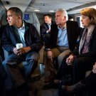 BARACK OBAMA w/ JIM COSTA AND DIANNE FEINSTEIN ON MARINE ONE 8X10 PHOTO (ZY-506)